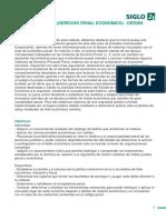 Programa Penal III (Penal Económico)