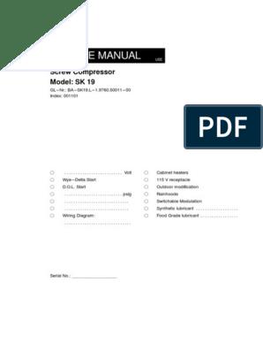 Service Manual Kaeser SK 19   Lubricant   Motor OilScribd