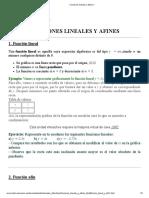 Funciones Lineales y Afines 1