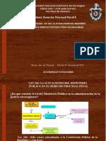 Derecho Procesal Penal. ActuaciónMpublico