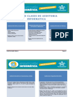 Tipos o Clases de Auditoria Informatica 2
