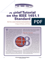 A Brief Tutorial on the IEEE 1451.1 Standard