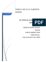 Tarea 4 Wi-fi 6 y Albentia Wimax