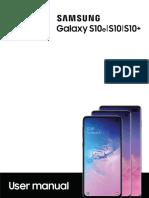 Galaxy s10 User Guide Sm g970u1 Sm g973u1 Sm g975u1 p 9-0-022019 Final English
