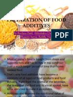 Preparation of Food Additives 1