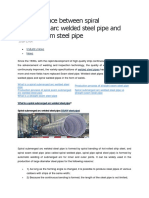 The Difference Between Spiral Submerged Arc Welded Steel Pipe and Straight Seam Steel Pipe