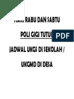 Poli Gigi Tutup