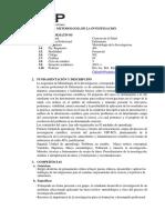 Usp- Silabo - Metodologia de La Investigacion .2019-1