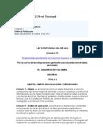 PROTECCION DE DATOS PERSONALES - Ley 1581 de 2012 Nivel Nacional.docx