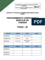 Posgi 30 - Procedimiento Confección y Montaje de Tabiqueria Rev.02