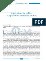 Opérations de police et opérations militaires en mer