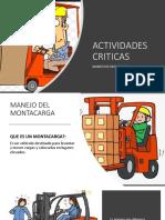 ACTIVIDADES CRITICAS MONTACARGA