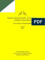 Fase 3 Organización Actividades, Tareas y Procesos
