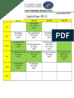 Emploi Du Temps IGE- S2 S4 S6- 2019 Printemps