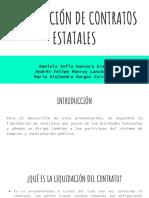 LIQUIDACIÓN DE CONTRATOS ESTATALES