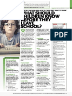 What Should Children Know Before They Leave School
