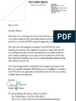 Letter to FDOT Secretary Kevin Thibault