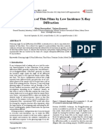 Characterization of Thin Films by Low Incidence X-Ray Diffraction