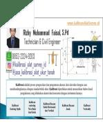 Jasa Kalibrasi Alat Ukur Tanah Alat Survey Pemetaan 085223249203 Rizky Muhammad Faisal