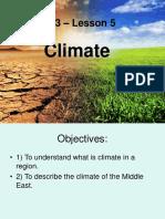 Unit 3 – Lesson 5 Climate