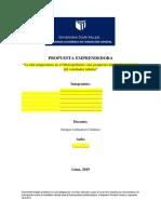 Propuesta Emprendedora (Nombre Del Proyecto)