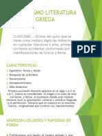 CLASICISMO LITERATURA GRIEGA.pptx