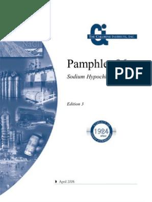 Sodium Hipochlorite Manual | Chlorine | Sodium Hydroxide