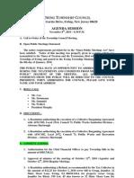 2010-11-08 Council Agenda Session