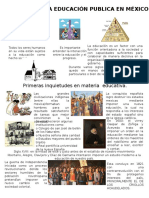 Origenes de La Educación Publica en México 1