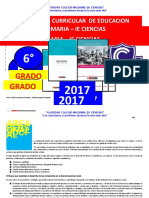 Programa Curricular de Primaria 6 Grado