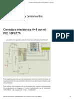 Cerradura electrónica 4×4 con el PIC 16F877A – jerryespi