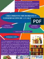 Crecimiento Microbiano y Conservacion de Los Alimentos.