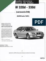 Manual Taller Automovil Bmw 320d 330d e46!98!01 Motor Sistemas Embrague Caja Direccion Trenes Frenos Interior