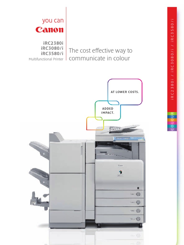 Canon Irc2380i Irc3080 Irc3080i Irc3580 Irc3580i Brochure | Image Scanner |  Portable Document Format
