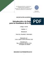 Orientaciones para el curso introducción a la pedagogía de la matemática