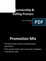 Salesmanship & Selling Process