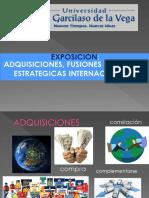 Adquisiciones Fusiones y Alianzas Estrategicas Internacionales