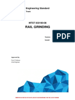L1 CHE STD 022 v2 Rail Grinding