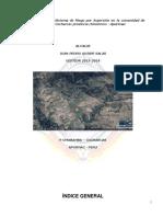 Implementación de Sistema de Riego Por Aspersión en La Comunidad de Pomabamba Distrito Cocharcas Provincia Chincheros