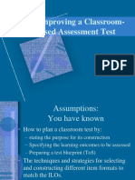 05E.90 Improving a Classrom-Based Assessment Test (1)