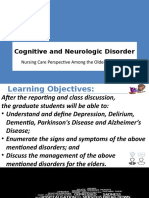 N608 - Cognitive and Neurologic Disorder
