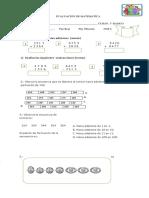 Evaluacion de Matematica 3 Basico