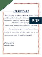 Bal Bharti Certificate-Acknowledge