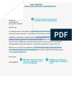 Essential Parts of a Cover Letter