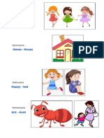 Action Words Synonyms Antonyms Homonyms