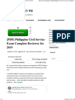 [PDF] Philippine Civil Service Exam Complete Reviewer for 2019