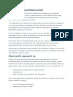 Dissertation Manual