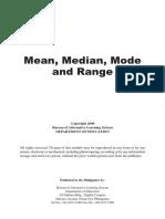 Mean Median Mode and Range-Final