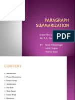 Paragraph Summarization PPT