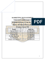 Marketing Management and STP of Harley Davidson.docx